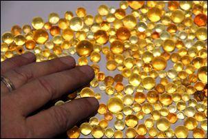 Amber Beads Spheres